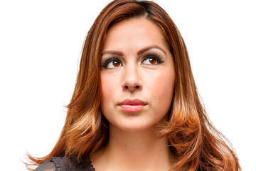 Hispanic female facial expression