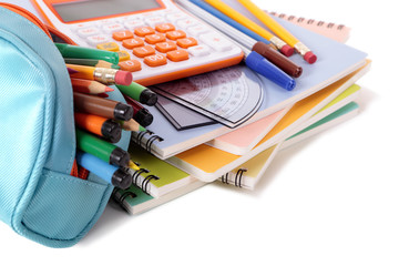 School supplies with calculator