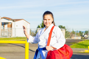 Martial Arts Student Waves Hello