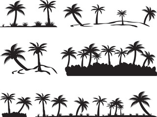 Tropical islands isolated on white