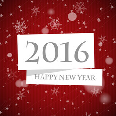 red striped 2016 new year card