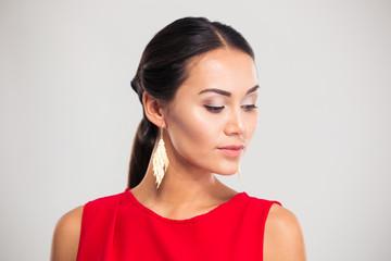 Portrait of a pretty female model