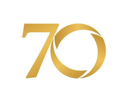 golden ring logo number 70