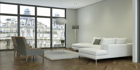 modernes Wohnzimmer im Loft