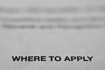 Detail of Newspaper Job Application Advertisement