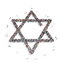 people in the shape of a Jewish star, religion