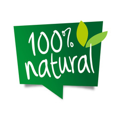 100% natural / bulle