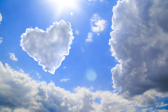 Heart shape of clouds