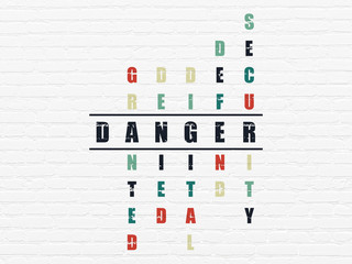 Privacy concept: word Danger in solving Crossword Puzzle