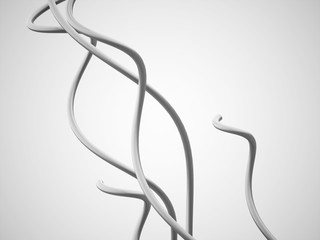 Silver abstract lines concept
