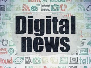 News concept: Digital News on Digital Paper background