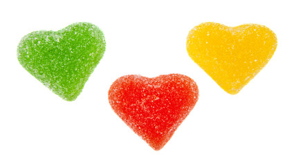 fruit jellies hearts