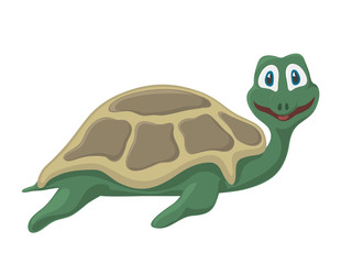 turtle, vector, cartoon, cute, tortoise, illustration, happy, animal, isolated, character, reptile, shell, green, cheerful, funny, turtles, fun, mascot, wildlife, wild, comic, art