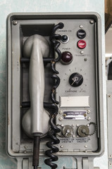 old telephone using on war ship