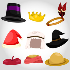 Illustrator of hat and cap set