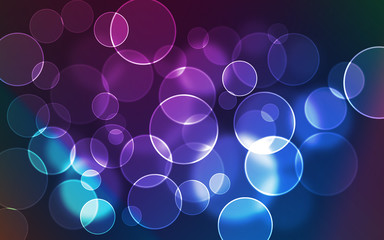 bubbles and circles vibrant colors background for designers