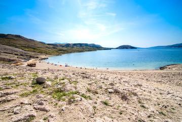 Paradise beautiful beach in  adriatic