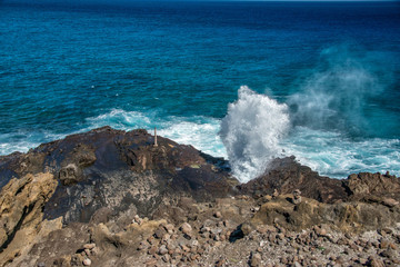 blow hole in hawaii oahu