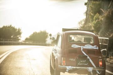 vintage car - wedding
