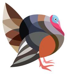 Stylized Turkey Bird