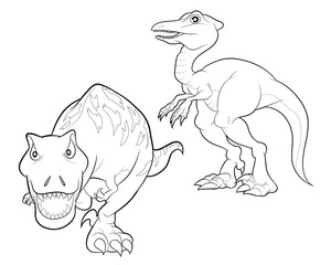 dinosaur cartoon lineart