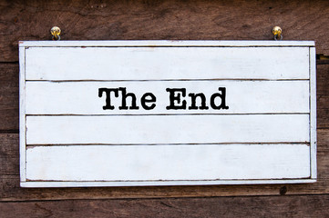 Inspirational message - The End