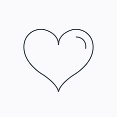 Love heart icon. Life sign.