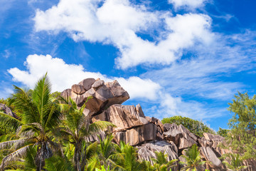 Grand Anse Granitfelsen, La Digue - Seychellen