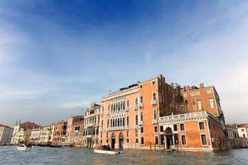 Beautiful view of the Canal Grande in Venice. Italy