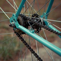 cogwheel on a bicycle