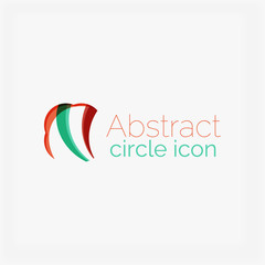Abstract symmetric geometric shapes, business icon