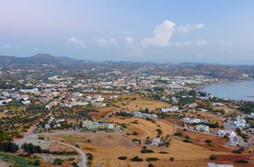 Fakiraki town on the island of Rhodes, Greece .