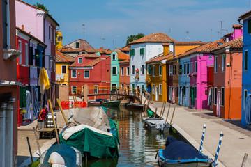 Colorful homes of Burano.