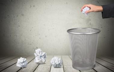 Garbage, Garbage Bin, Paper.