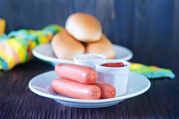 buns and sausages