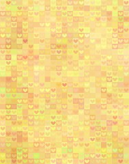 Beautiful heart shape pattern in yellow spectrum