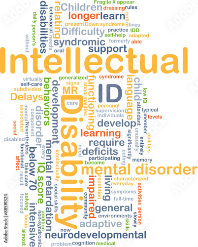 intellectual disability id background concept stock photo and