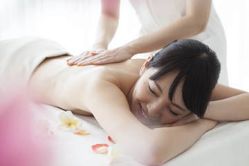 Asian women are a massage