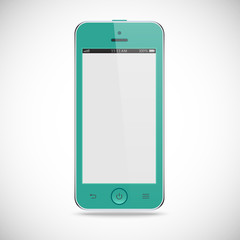 realistic detailed smartphone with touch screen isolated