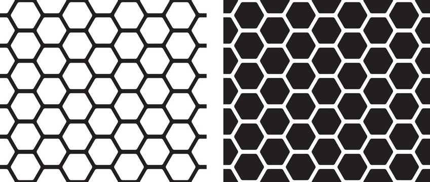 Seamless texture of honeycomb