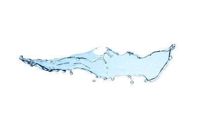 Water splash on white background