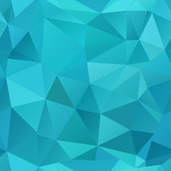 Blue polygonal seamless mosaic background.