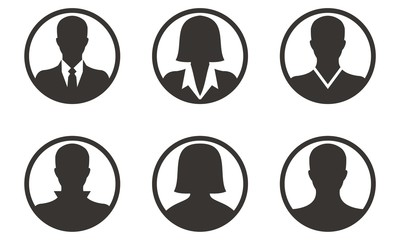 Icons People Silhouette Set