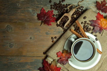 Coffee cup autumn