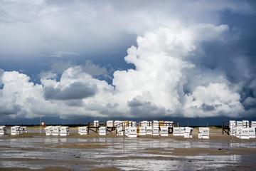 Unwetterwolken an der Nordsee