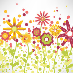 background with a floral pattern of child