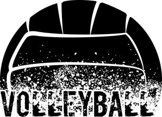 Volleyball Dark Grunge