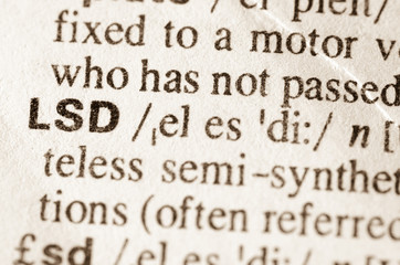 dictionary definition of word LSD