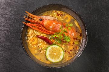 えびのラクサ アジア麺 Laksa Malaysian noodles dish