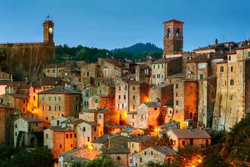Foto op Canvas Toscane Sorano - tuff city in Tuscany. Italy